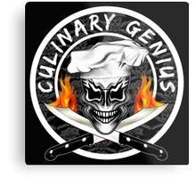 Skull Chef 1: Culinary Genius 2 Metal Print