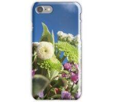 Green White and Purple Flowers iPhone Case/Skin