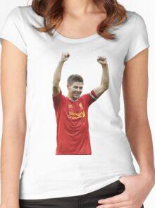 steven gerrard Women's Fitted Scoop T-Shirt