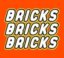BRICKS BRICKS BRICKS, by Customize My Minifig Kids Clothes