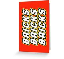 BRICKS BRICKS BRICKS, by Customize My Minifig Greeting Card