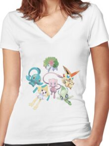 20th years of Pokemon Women's Fitted V-Neck T-Shirt