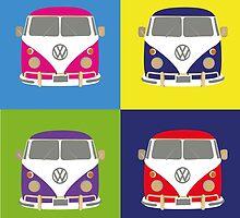Pop Art styled camper van VW by Leannenicola