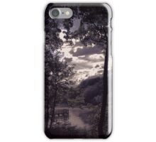 Light breaking through the clouds at Worsley woods  iPhone Case/Skin