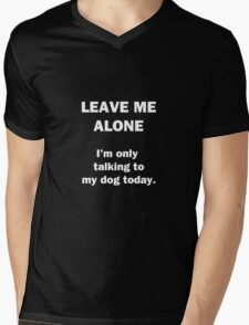 Leave Me Alone Mens V-Neck T-Shirt