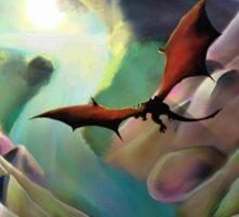 Dragon volant - Landscape Sticker