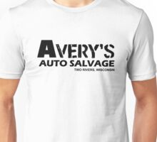 Avery Auto Salvage black Unisex T-Shirt