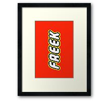 FREEK Framed Print