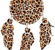 leopard dream catcher for all the cat ladies. by littlemisswitch