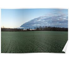 Delicate Young Crops - Coordinated Clouds and Furrows Poster