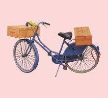 Tuscan bicycle in blue Kids Tee