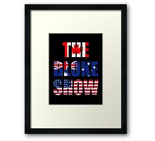 The Bloke Show Flags Framed Print