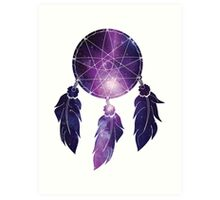 Catch all the dreams in your galaxy Art Print