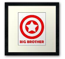 Superhero Big Brother Framed Print