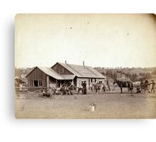 Western Ranch House - John Grabill - 1888 Canvas Print
