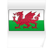 WALES, WELSH FLAG, FLAG OF WALES, RED DRAGON, Welsh Poster