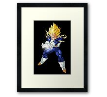 Vegeta Final Flash Framed Print