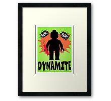 Dynamite Minifigure, Customize My Minifig Framed Print