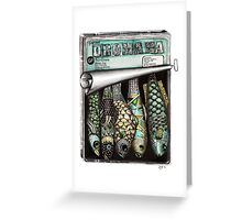 Gourmet sardines Greeting Card
