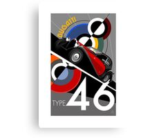 Poster artwork - Bugatti Type 46 Canvas Print