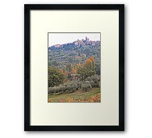 Panicale in Autumn Framed Print