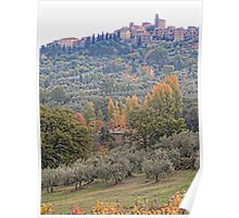 Panicale in Autumn Poster