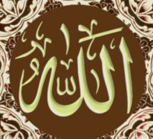 Allah  Ornaments tee Sticker
