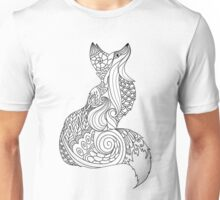 Royal fox in Black and White Unisex T-Shirt