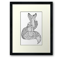 Royal fox in Black and White Framed Print