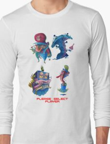 """Super Mario Bros 2 Collection """"Please Select Player"""" Long Sleeve T-Shirt"""