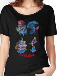 """Super Mario Bros 2 Collection """"Please Select Player"""" Women's Relaxed Fit T-Shirt"""