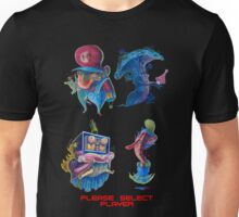 "Super Mario Bros 2 Collection ""Please Select Player"" Unisex T-Shirt"