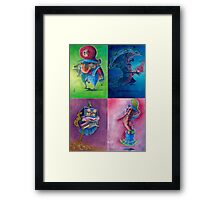 """Super Mario Bros 2 Collection """"Please Select Player"""" Framed Print"""