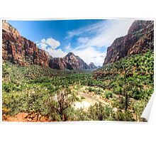The Valley at Zion National Park Poster