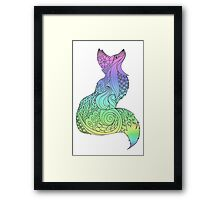 Colorful Royal fox Framed Print