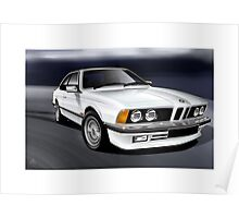 Poster artwork - E24 6 Series 635 CSI White Poster