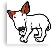 Ginger Ears Bull Terrier  Canvas Print
