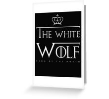the white wolf Greeting Card