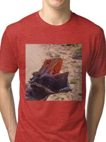 Australian Bearded Dragon Tri-blend T-Shirt