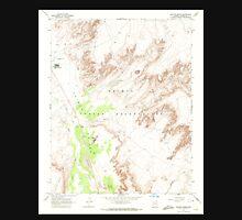 USGS TOPO Map Arizona AZ Dancing Rocks 311074 1968 24000 Unisex T-Shirt