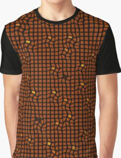 Brown pattern Graphic T-Shirt