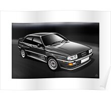 Poster artwork - Audi quattro in Charcoal grey Poster