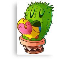 Cactus bird Canvas Print