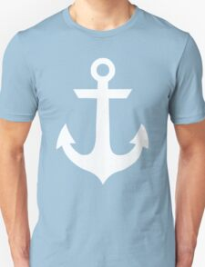Anchor-black sailor vintage style navy Nautical Unisex T-Shirt