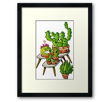 cacti interior Framed Print