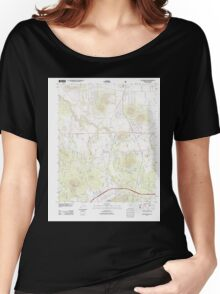 USGS TOPO Map Arizona AZ Williams North 20120508 TM Women's Relaxed Fit T-Shirt