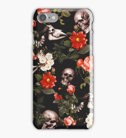 Skull and Floral Pattern iPhone Case/Skin
