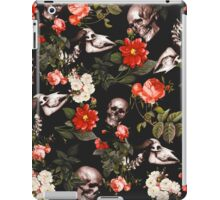 Skull and Floral Pattern iPad Case/Skin