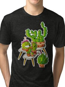 cacti interior outline Tri-blend T-Shirt