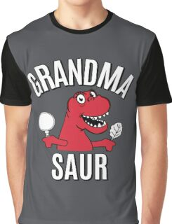 GRANDMA SAUR SMILE DINOSAUR Graphic T-Shirt